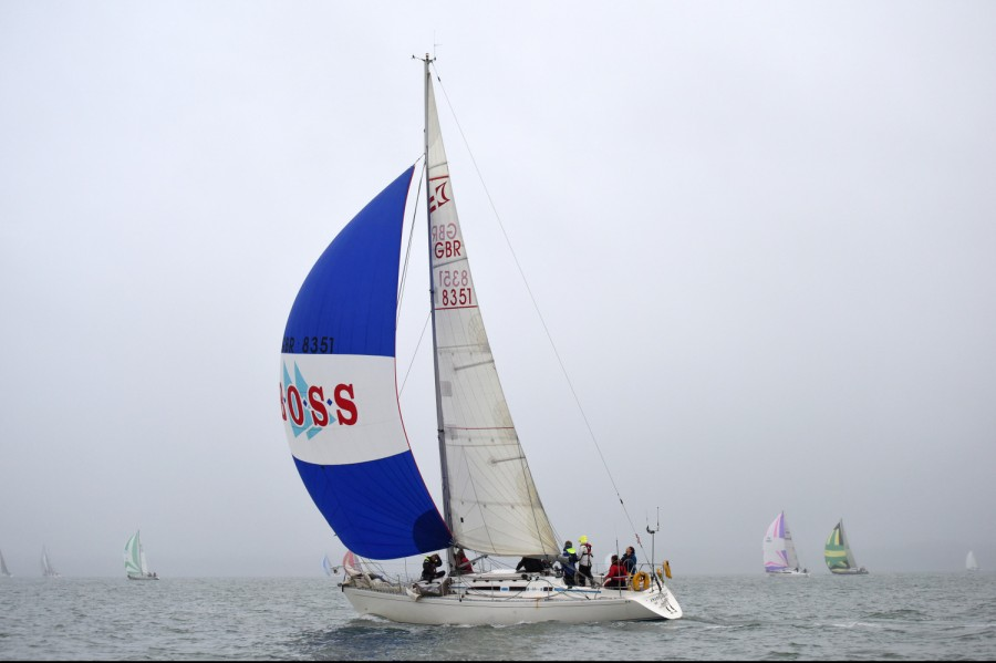 Round the Island race - Under Spinnaker