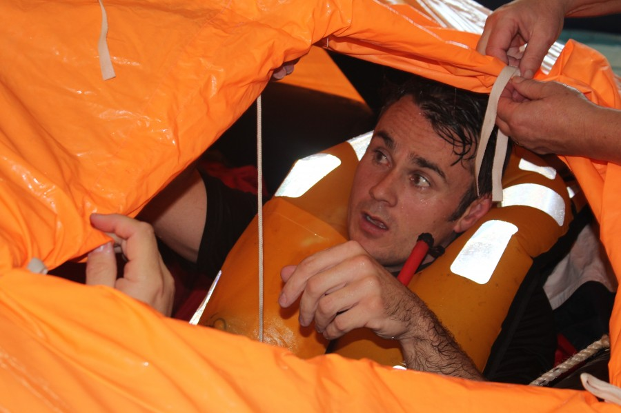 Closing the covers on a Sea Survival course