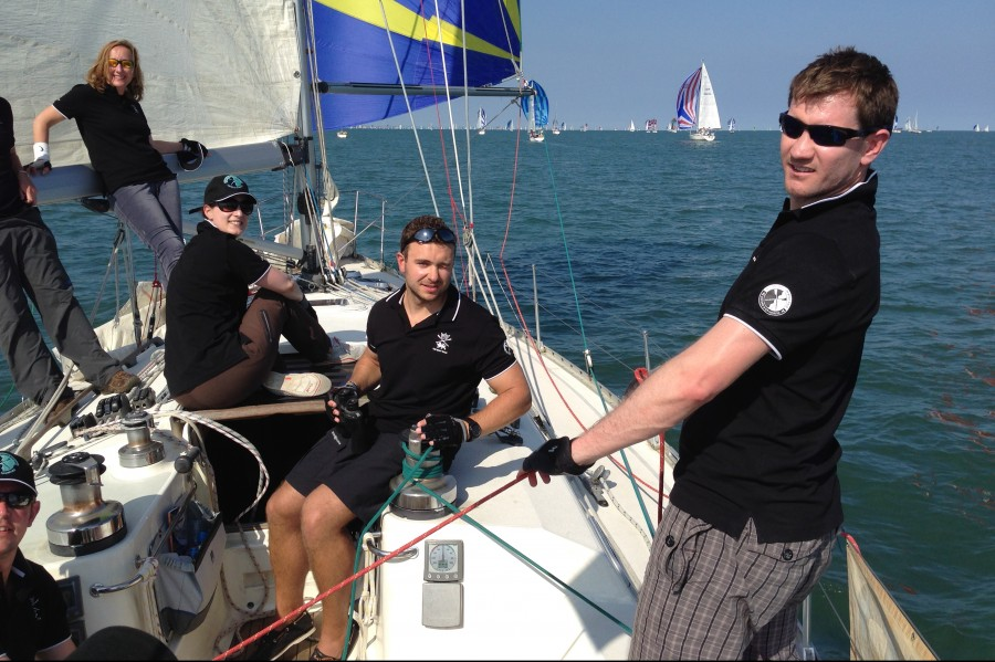 Sail Trim on the Round the Island race