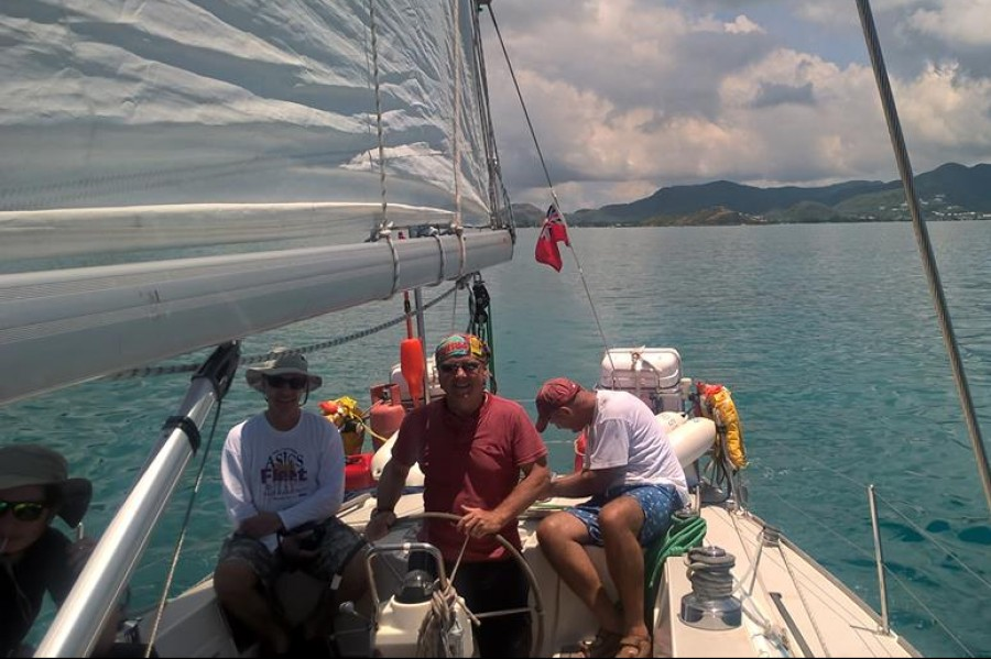 Setting off Trans-Atlantic Sailing
