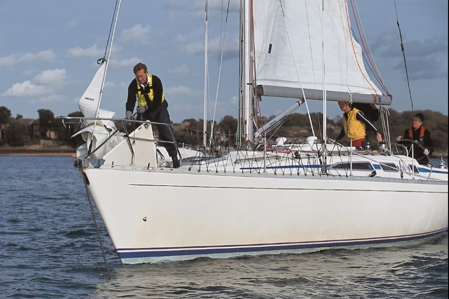 Anchoring on a sailing skills weekend