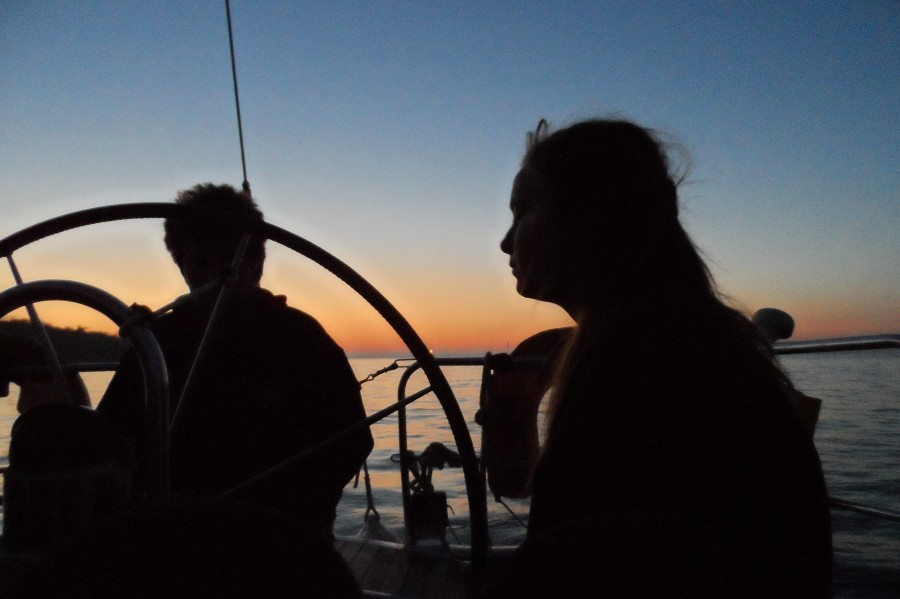 Competent Crew night sailing