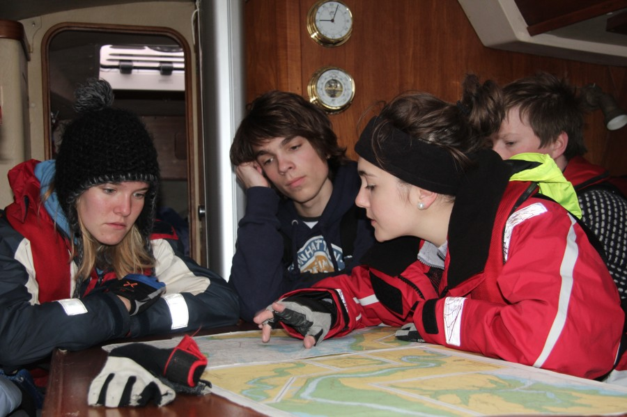 Learning to navigate on an RYA youth sailing course