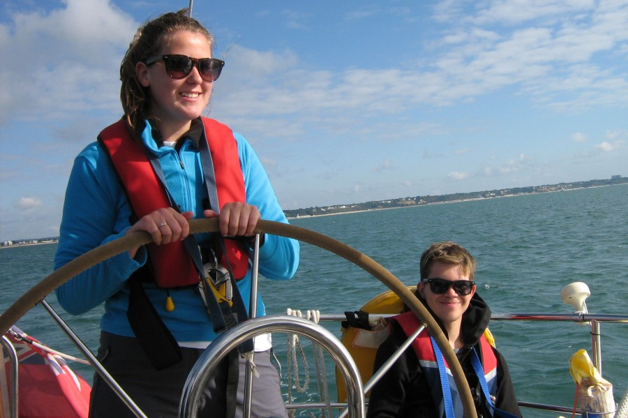 Taking the helm on a DofE Sailing Expedition
