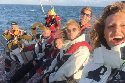 Having fun on a DofE Sailing Expedition
